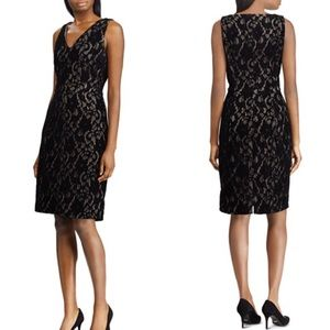 NWT Ralph Lauren Black Lace Sheath Dress